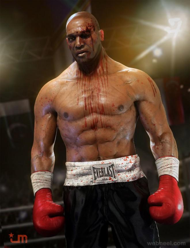 boxer 3d character design