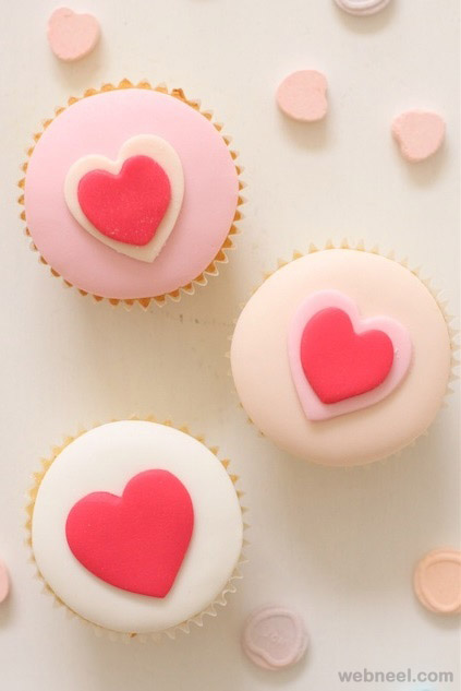 valentines day cup cake