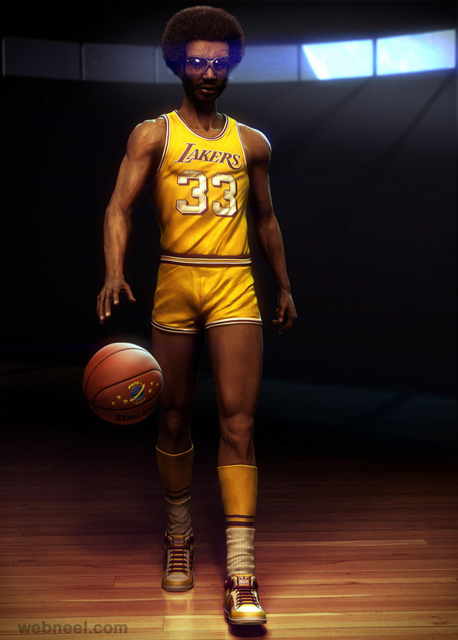 sports man 3d character design