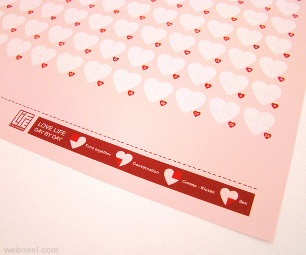 valentine day design life calendar