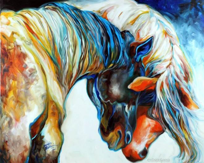 horse love painting marciabaldwin
