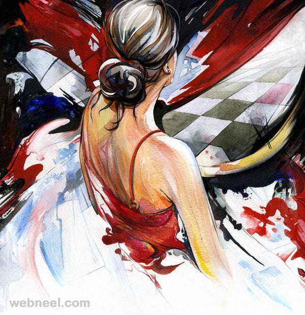 watercolor painting geliografic