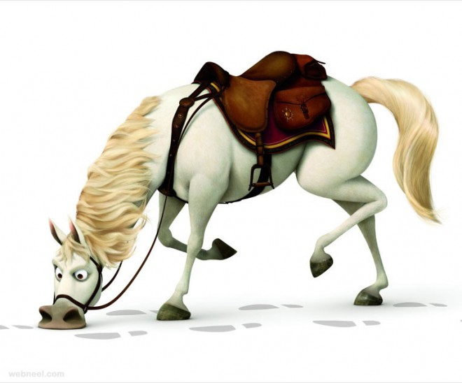 3d animals horse tangled