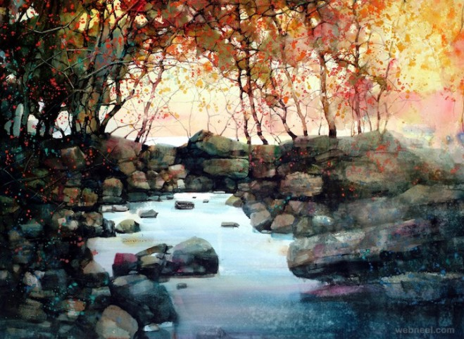 watercolor paintings zlfeng