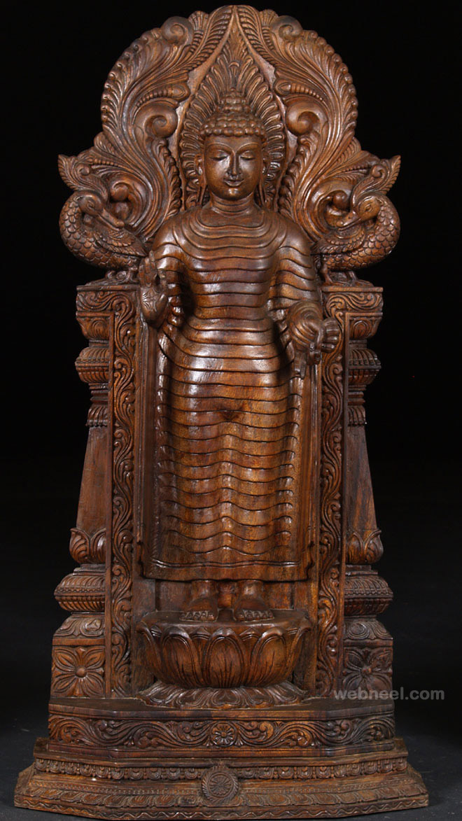 wood carving hindu god