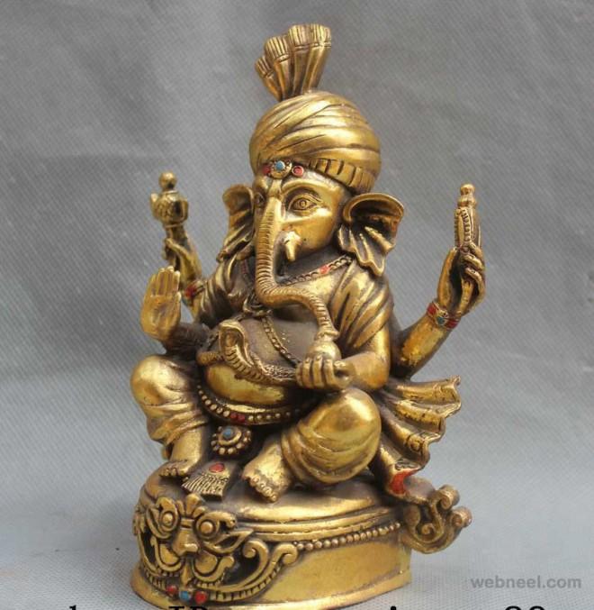bronze sculpture god