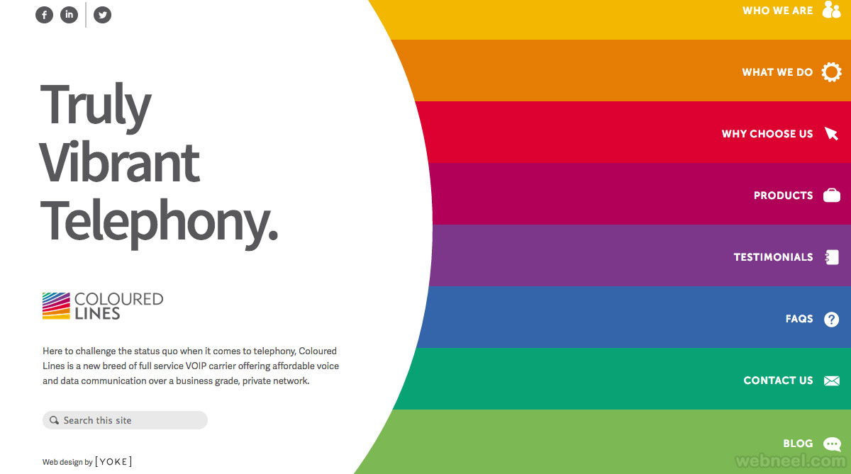 colorful websites