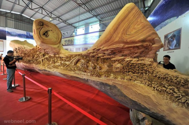 longest wood carving