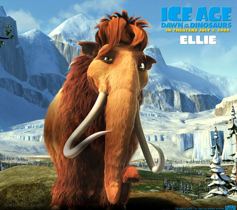 3d animals elephant iceage