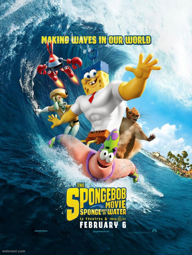 sponge out of water animation movie