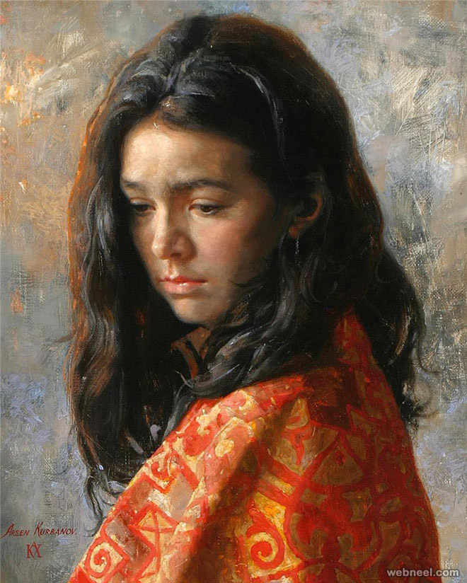 portrait painting by arsen kurbanov