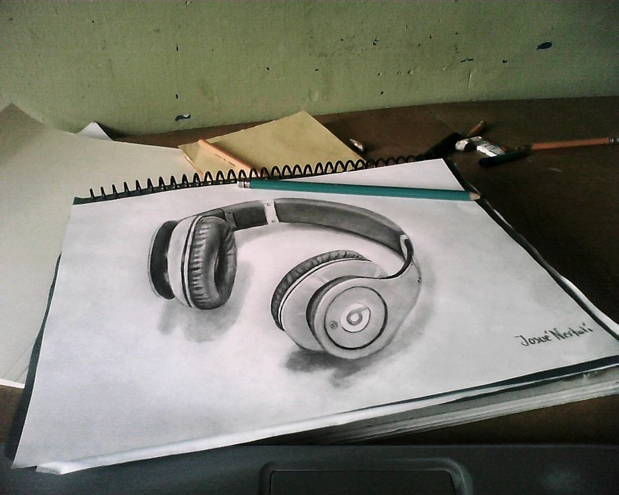 3d pencil drawing by hhjosue
