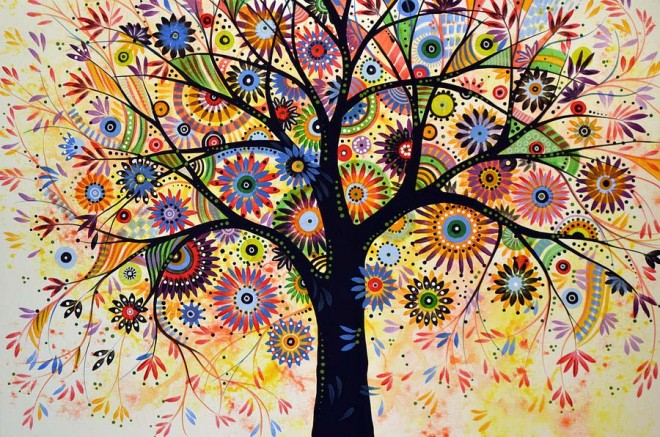 beautiful tree painting by amy giacomelli