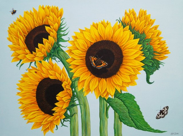 sunflower flower painting