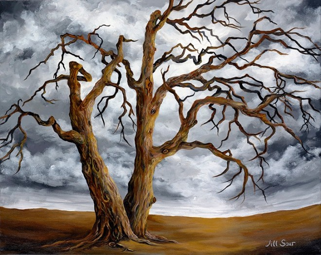 trees painting by jill med