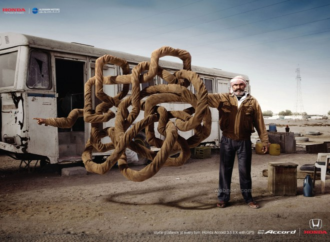 honda car print ads by alghanim motors