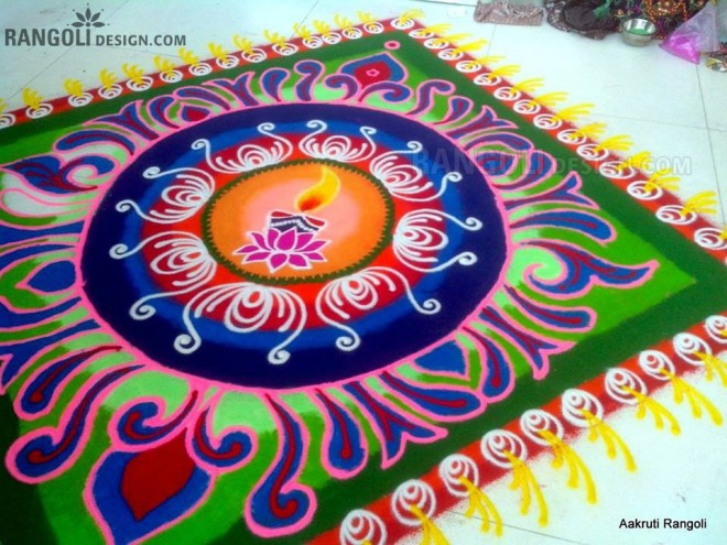 diwali rangoli design by aakruti