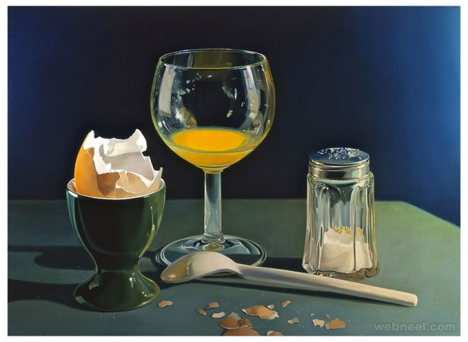 egg realistic oil paintings by tjalf sparnaay