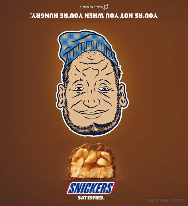 snickers chocolate print ads design