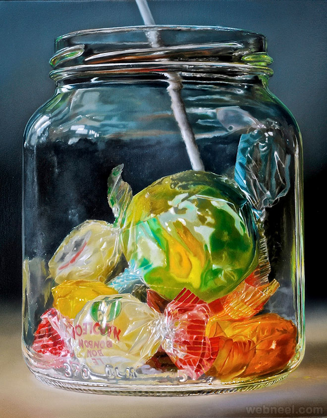 candy realistic oil paintings