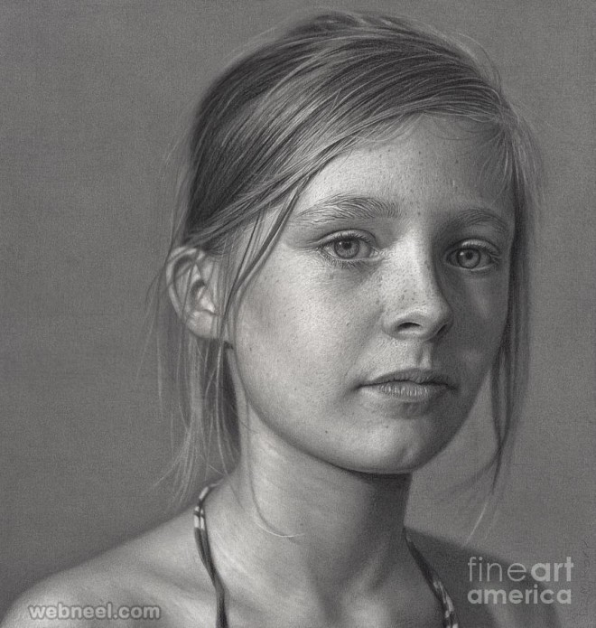 portrait drawing by dirk dzimirsky