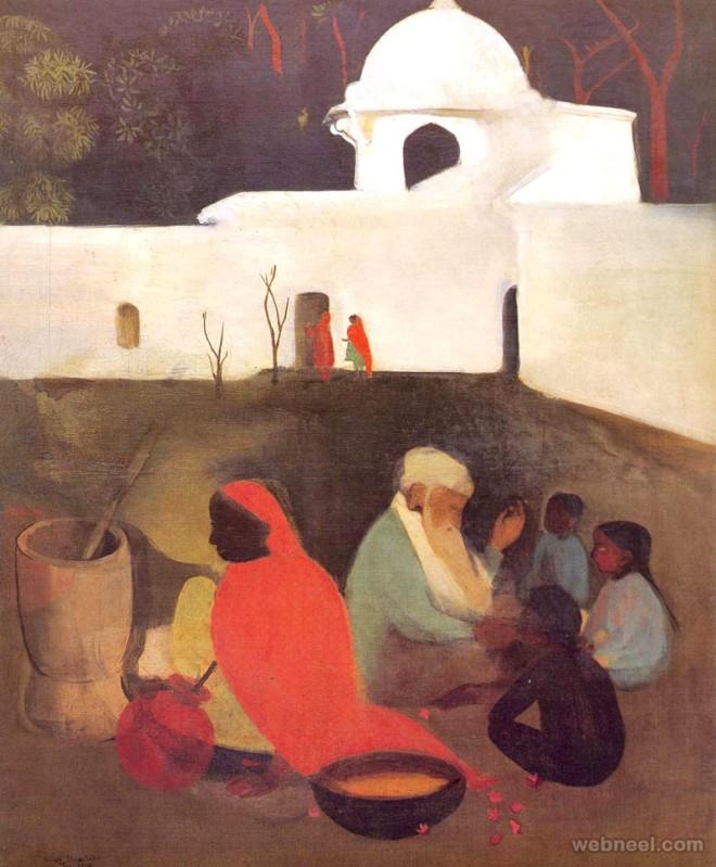 ancient storyteller painting by amrita shergil