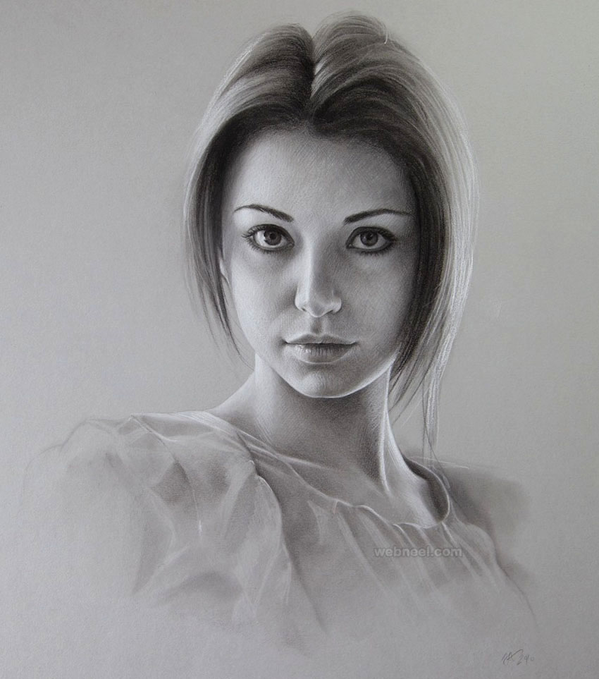 portrait drawing woman