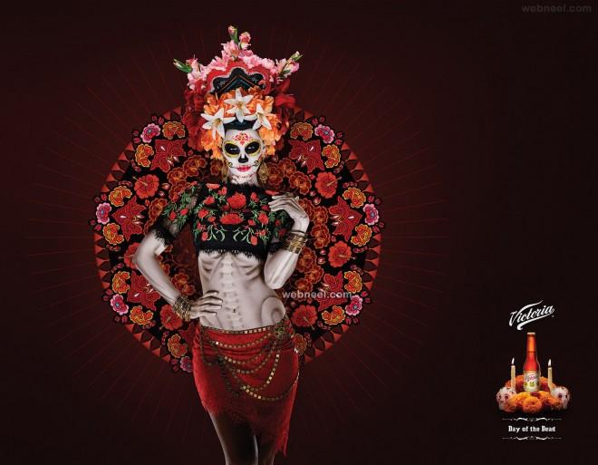 victoria drinks print advertisements design