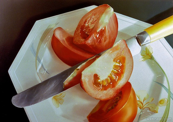 tomato realistic oil paintings by tjalf sparnaay