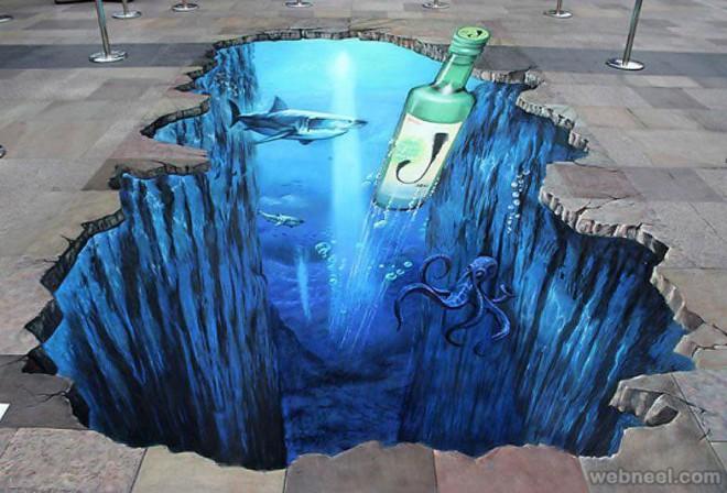 underwater 3d street art