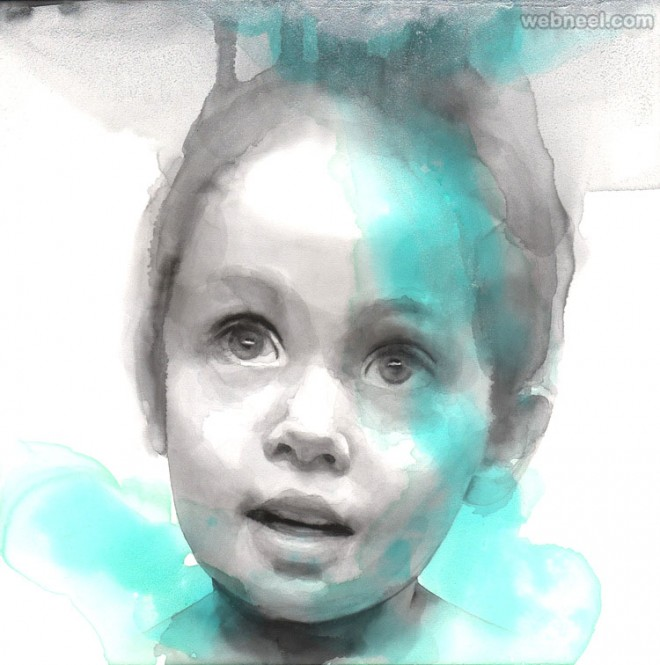 boy watercolor painting by ali cavanaugh