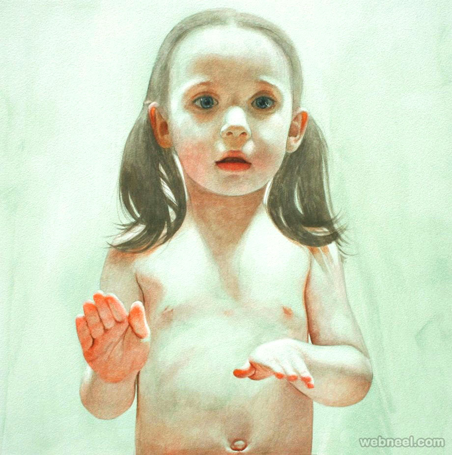girl watercolor painting by ali cavanaugh