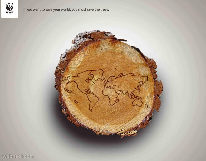 save trees creative advertising idea deforestation