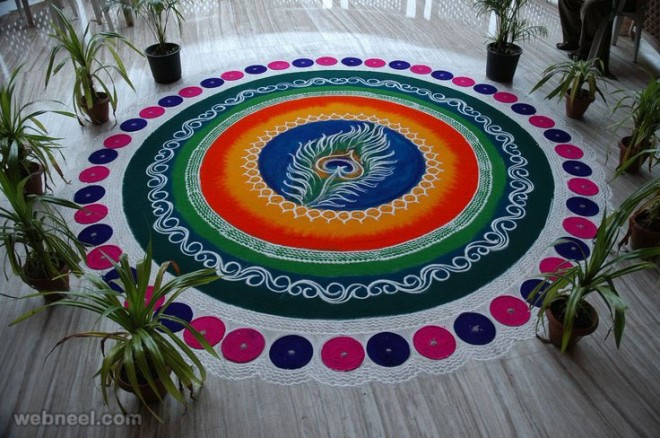 rangoli designs feather