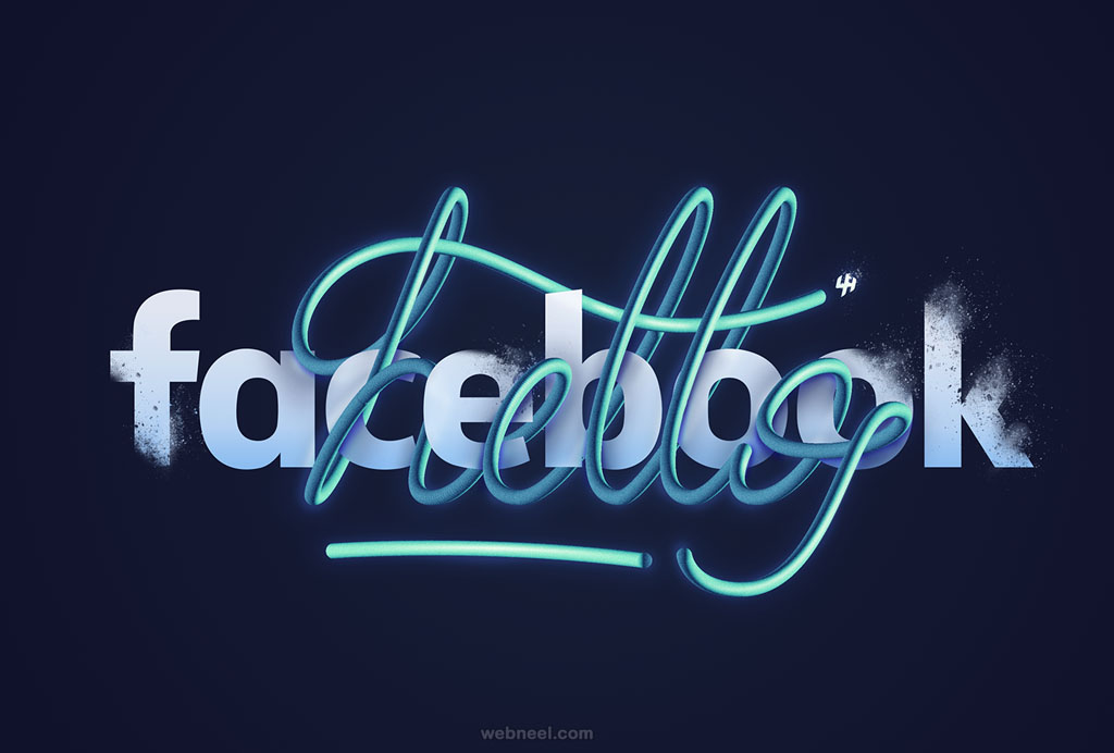 hello facebook typography design
