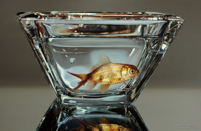 fish hyper realistic painting by youngsungkim