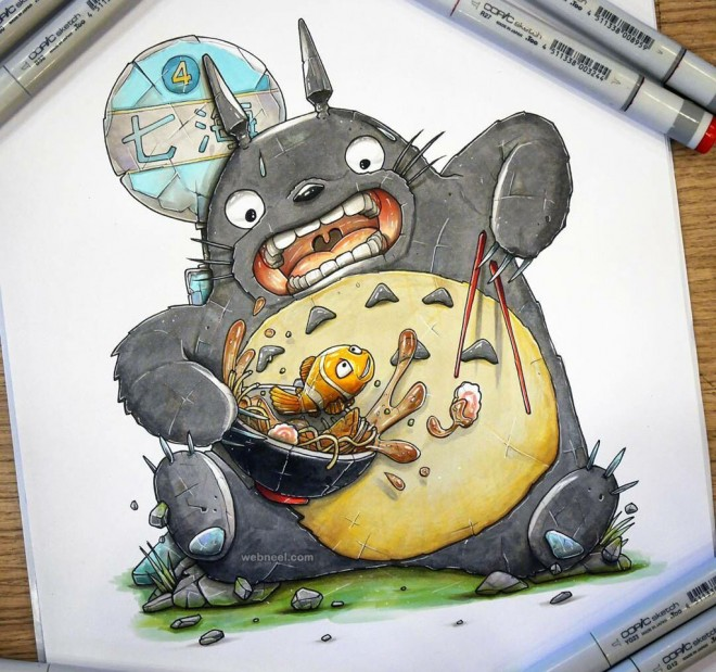 cartoon creative drawings by tino valentin hopic