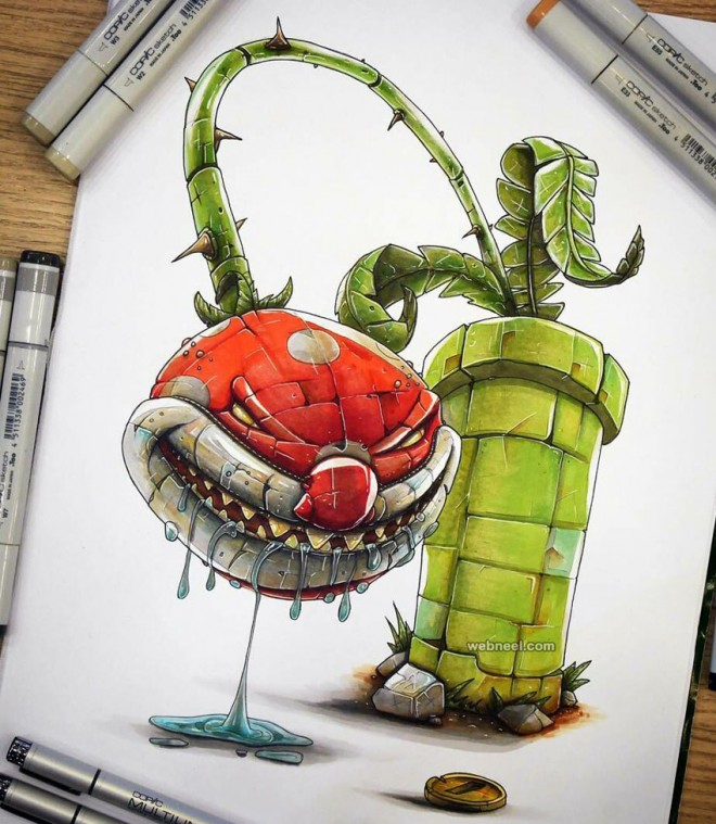 plant creative drawings by tino valentin hopic
