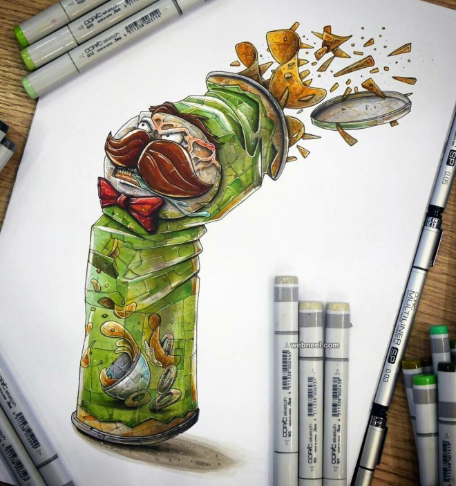 chips creative drawings by tino valentin hopic