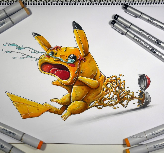 pokemon creative drawings by tino valentin hopic