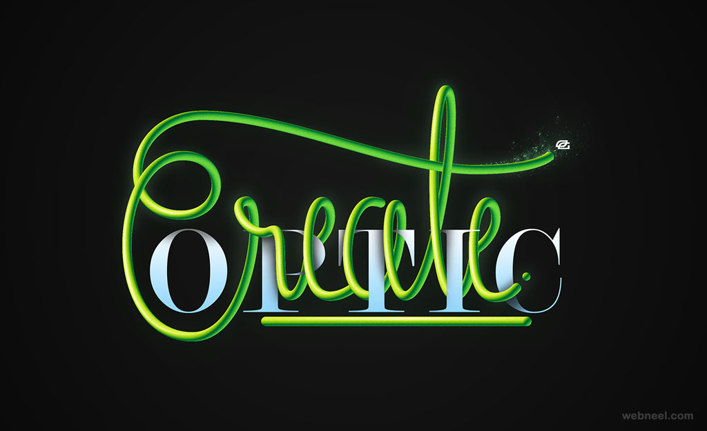 create optic typography design