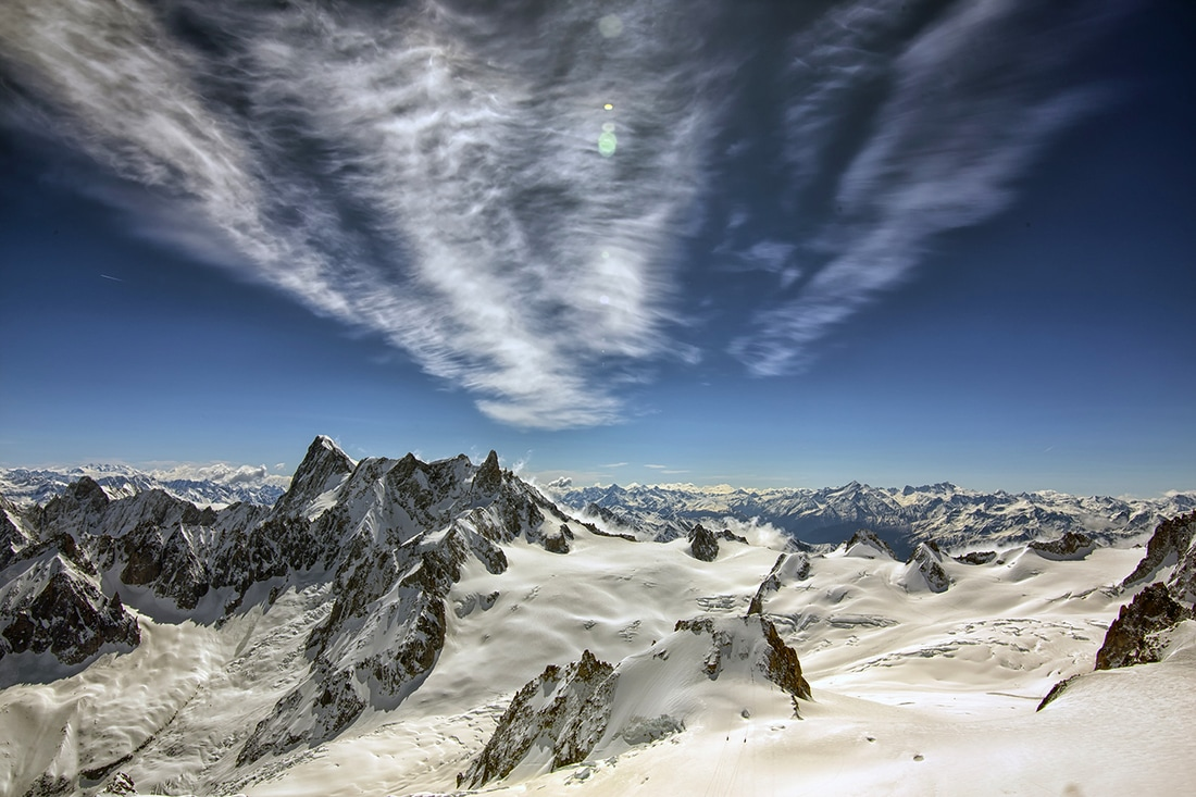 view from mont blanc photography