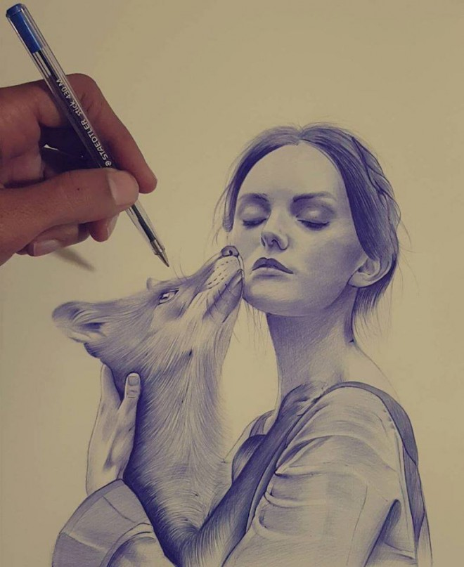 beautiful pen drawing by hisham art