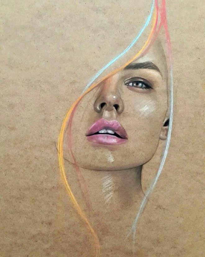 color pencil drawing by 7usam86