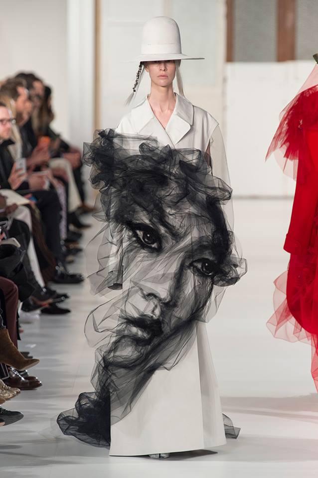 tulle portrait by fashion designer john galliano