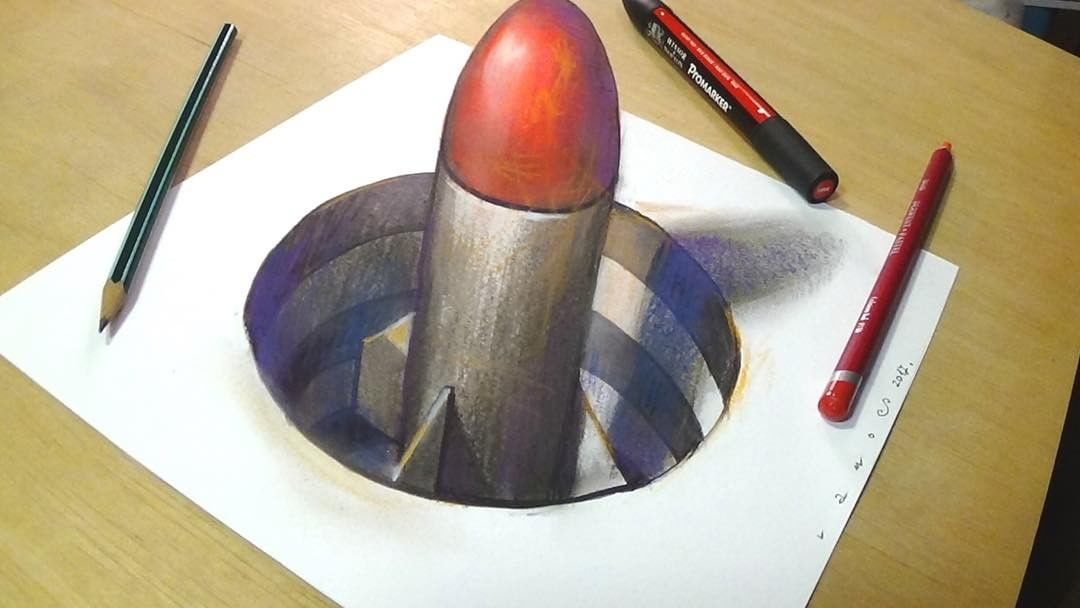 missile 3d drawing by sandor vamos
