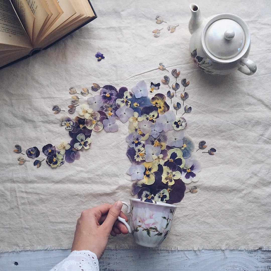 floral tea story by marina malinovaya