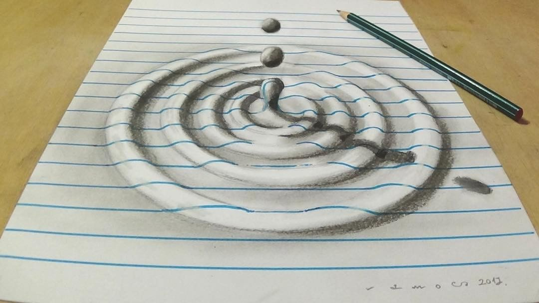 water droplets 3d drawing