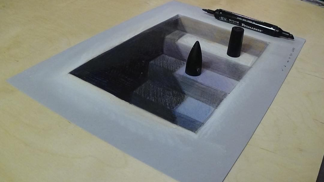 3d stairs 3d drawing