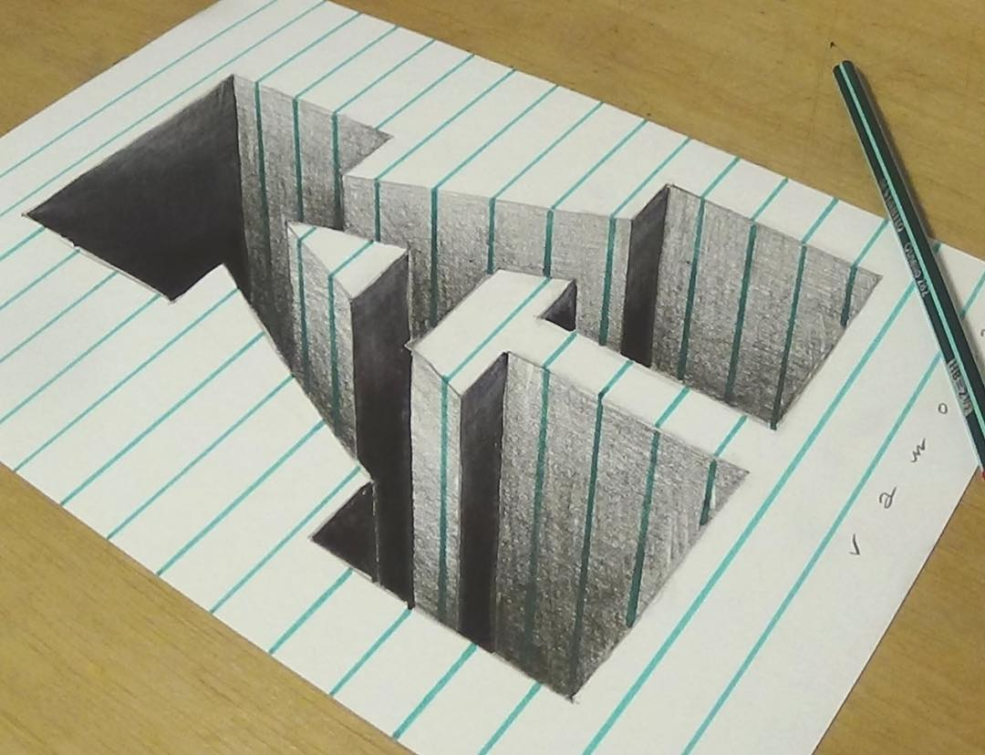 alphabet 3d drawing